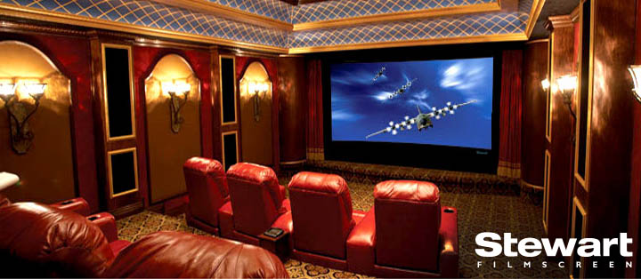 Stewart FilmScreen Projector and Screen Options