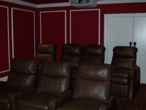Home Theater Seating Example