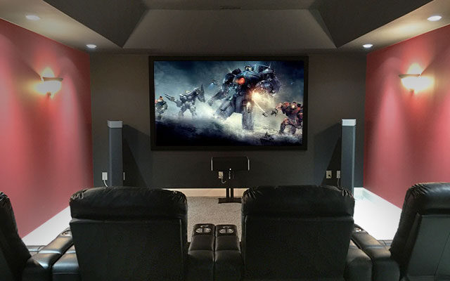 Dedicated Red Home Theater