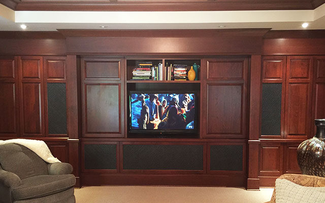 Media Room with Hidden Speakers