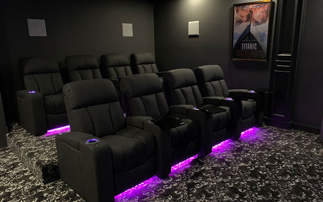 LED under chair home theater seating